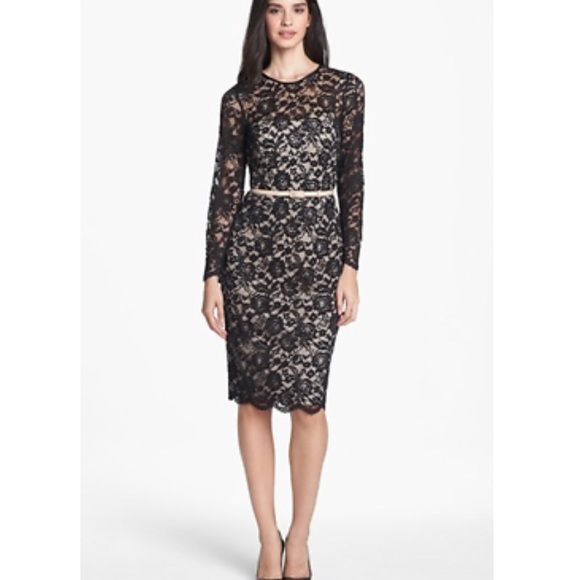 Maggy London Dresses Embroidered Lace Overlay Midi Dress Poshmark